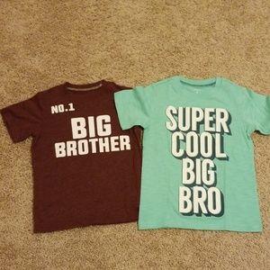 Carter's Big Brother Shirts Size 4 (2 shirts)